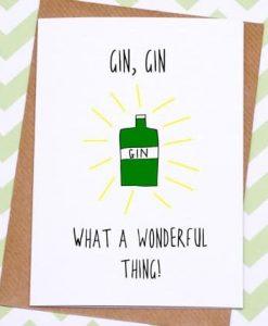 Gin Gin funny greeting card