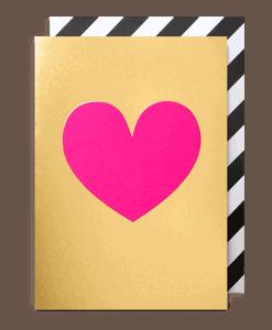pink & gold heart