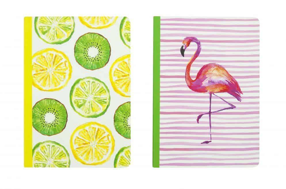 Fruit & flamingo notebook