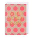 pink polka dot birthday card