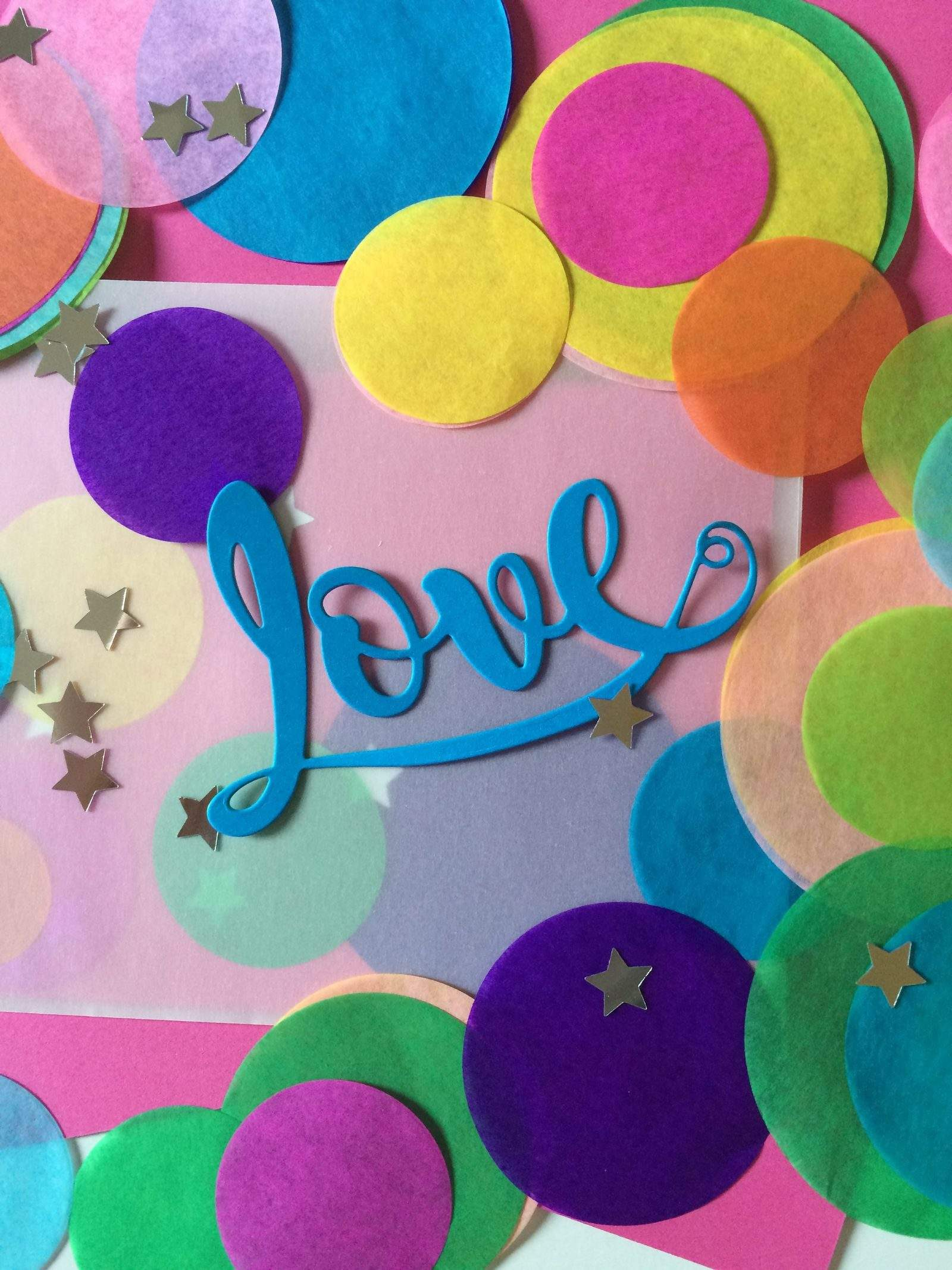 confetti lovely letter set