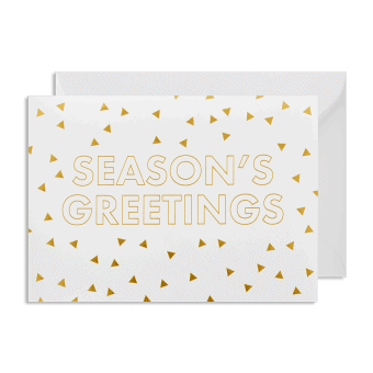 Seasons Greetings gold metallic Christmas cards pack of 5