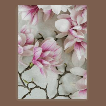 pink & white blossom postcard