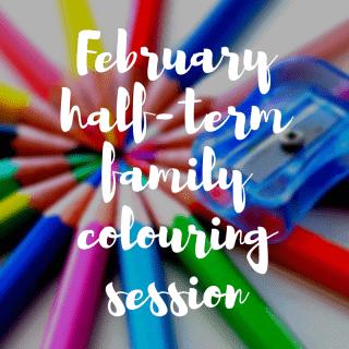 February half term family colouring