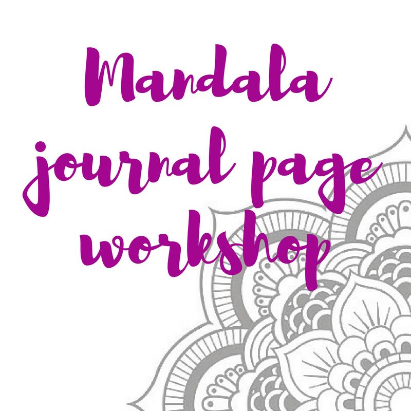 Mandala journal page workshop